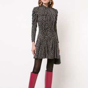 REBECCA TAYLOR Printed Flared Cheetah Print Dress